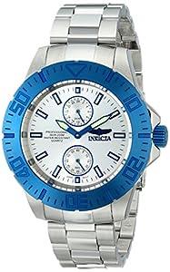 Invicta Men's 14059SYB Pro Diver Analog Display Japanese Quartz Silver Watch