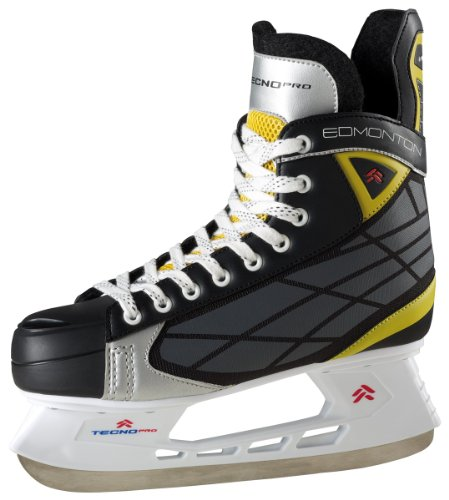 TECNO-PRO-Hommes-Hockey-sur-glace-DEMONTON-II-noir-gris-jaune