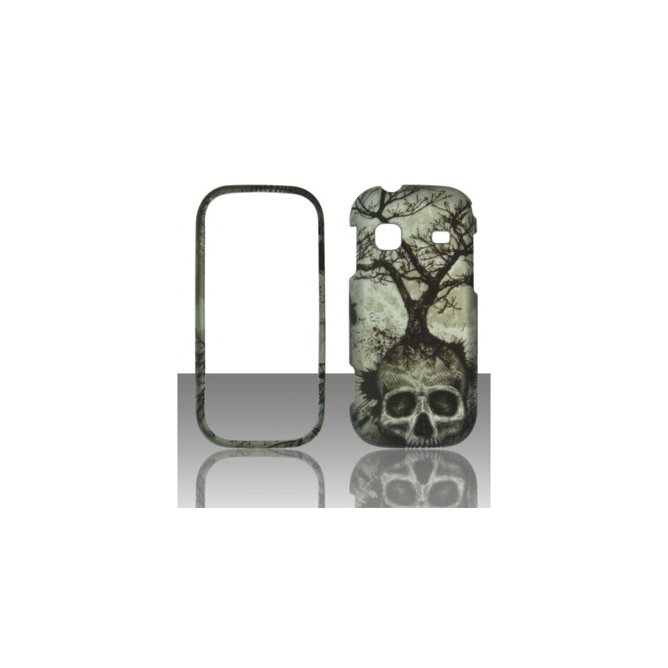 2D Tree Skull Samsung Gravity TXT T379 T Mobile Case Cover Hard Phone Case Snap on Cover Rubberized Touch Protector Faceplates