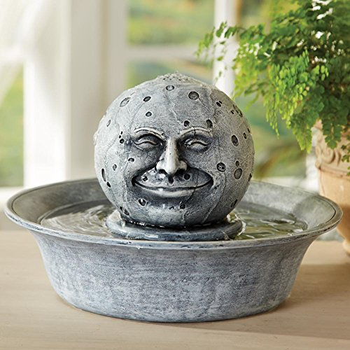 Man In The Moon Tabletop Fountain
