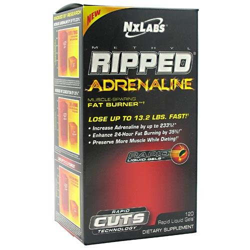 NxLabs Methyl Ripped Adrenaline Muscle-Sparing Fat Burner - 120 Rapid Liquid