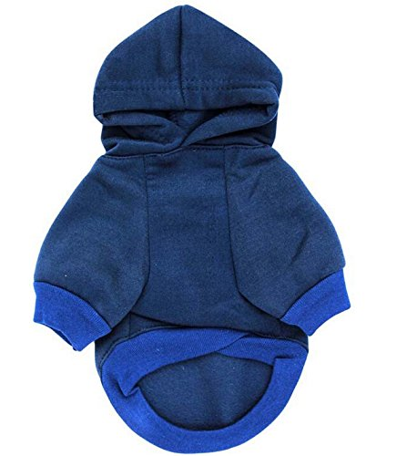 LISEN Dog Hoodie Clothes Pet Apparel Custumes Puppy Cotton Outfit Clothing Spoiled Princess Printed,Blue,Large Size