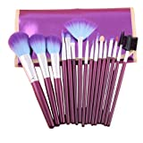 Jovana 16pc Professional Cosmetic Makeup Make Up Brush Brushes Set Kit With Purple Bag Case