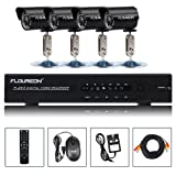 Top Quality FLOUREON 1 X 8CH DVR + 4 X Outdoor Camera HDMI USB WiFi 3GÂ Security Kit UK
