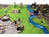 Ritter / Fantasy Spielmatte (Spielteppich) für das Kinderzimmer - Maße: ca. 150 x 100 cm - Zubehör passend für Schleich, Papo, Bullyland, Playmobil, Lego, Warhammer, Games Workshop etc. hergestellt von STIKKIPIX®