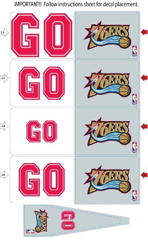 Philadelphia 76Ers Animated 3-D Auto Spin-Flags