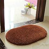 Topit Super Soft Nonslip Microfiber Beijirong Ellipse Door Mat Floor Mat Bedroom Area Rug Carpet 40cm*60cm + 1 Pcs Wristband (Coffee)