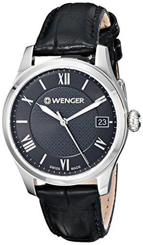 Wenger-Womens-0521104-Analog-Display-Swiss-Quartz-Black-Watch