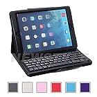 NEWSTYLE Apple iPad Air / iPad Air 2 Case - Wireless Bluetooth Keyboard Cover For Apple iPad Air / iPad Air 2nd Gen. - (w/ Bluetooth Camera Remote Shutter) - Black Color