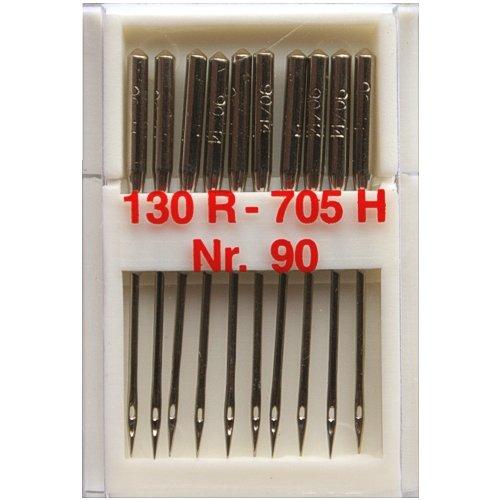 10 Nähmaschinennadeln Universal Nr.90 Flachkolben 130R/705H für Nähmaschine, 0353