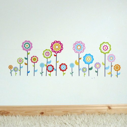 Girls,Bedroom,Nursery,Kids, PRETTY FLOWER Wall