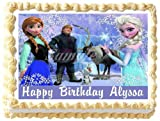 Frozen Edible Frosting Sheet Cake Topper - 1/4 Sheet