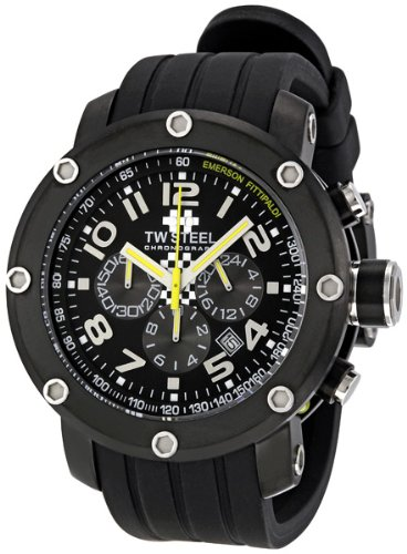 TW Steel Men's TW609 Emerson Fittipaldi Edition Black Rubber Chronograph Dial Watch