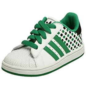 adidas Superstar 2 Polka Dots in Green and white