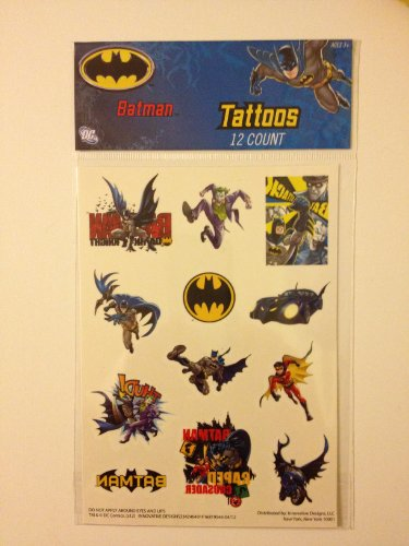Batman Tattoos (12 Count)