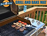 *SPECIAL DEAL* BBQ GRILL and BAKE MATS (set of 2) plus TWO BONUS recipes eBooks- BEST for healthy cooking and EASY CLEANUP - PORTABLE NONSTICK barbecue and bake sheet ideal for indoor/outdoor use - picnics, camping, RV grills, public grills- THICK, REUSABLE and FDA compliant liner - Money-back GUARANTEE
