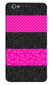 Omnam Black And Pink Stylish Combination Desiger Back Cover Case For Gionee S6