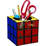 Magic Rubik's Cube Magnetic Desk Pen Holder Cute Stationery Organizer Christmas Gift