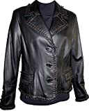 Johnnyblue Women's Lamb Leather Short Blazer by NYC Leather Factory Outlet