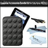 Essential Accessories Bundle Kit For Coby Kyros MID7015 7-Inch Android Internet Touchscreen Tablet Includes Tough Guard Sleeve Case + 6ft. Mini HDMI Cable + LCD Lens Pen Cleaning Kit + ButterflyPhoto MicroFiber Cleaning Cloth ~ ButterflyPhoto
