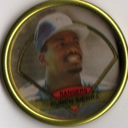 1990 Topps Baseball Bronze Coin #28 Ruben Sierra - 1