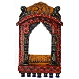 Rajasthali Wooden Colorful Jharokha WDN10074 - (16 in * 9 in)