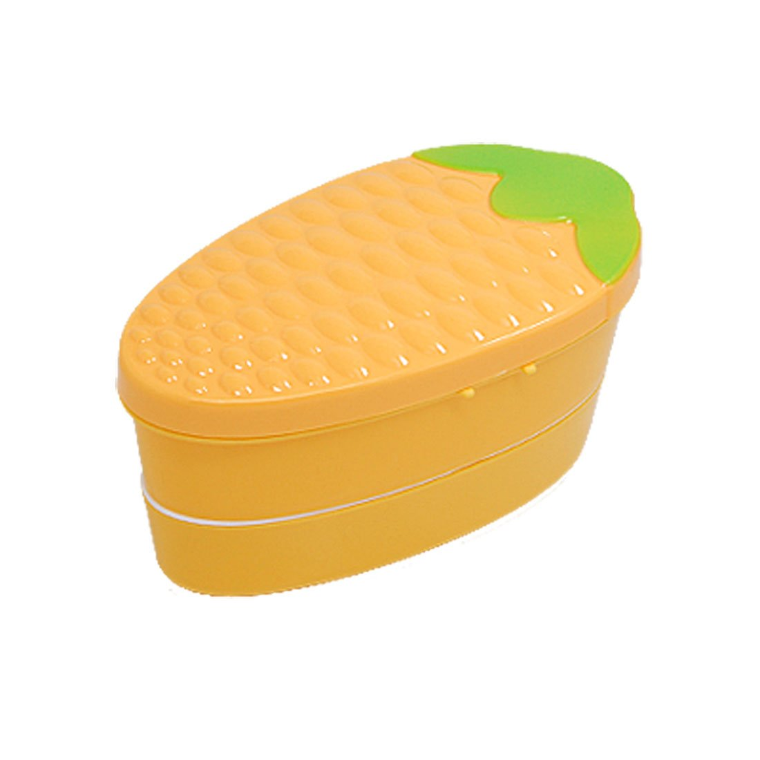 Mealie Corn Shape Double Layer Lunch Pastry Box w Spoon aosbos fashion portable insulated canvas lunch bag thermal food picnic lunch bags for women kids men cooler lunch box bag tote