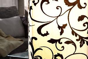 Paris Floral Standard Lamp Floor Lamp with Velvet Design by Invicta Interior