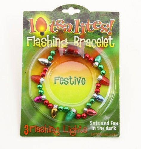 4030158 Lighted Christmas Bracelet, Lotsa Lights, Ornaments, Christmas Tree