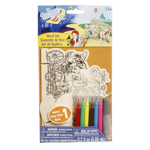WeGlow International The Wizard of Oz Color-In Wood Kits (2 Kits)
