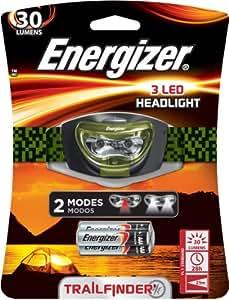 Energizer 3 LED Headlight, Green/Black, 3AAA
