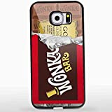 Willy Wonka Golden Ticket Chocolate Bar for Iphone and Samsung Galaxy Case (Samsung S6 Black)