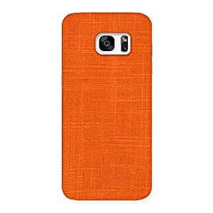 Orange Texture Back Case Cover for Galaxy S7 Edge