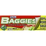 Hefty Baggies Storage Bags, Sandwich, 150 Count