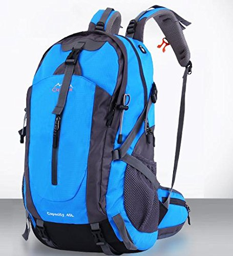 All'aperto alpinismo borsa spalla - 45L backpacking outdoor tempo libero uomini e donne borsa da viaggio , 45l blue