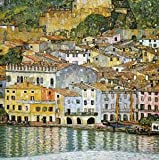 Blank Greeting Card - Lake Garda, Italy by Gustav Klimt