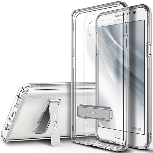 Click to buy Obliq OBGN5-NKS04 Hybrid Shock Resist TPU Bumper Case Cover with Kickstand for Galaxy Note 5 - Clear - From only $459.99