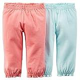 カーターズ Carter's ボディスーツにぴったり! とっても柔らかな綿パンツ 2枚組 100% 綿 コットンリブ 女の子 春秋 Essential 2-Pack Pants 24M (83-86cm) [並行輸入品] ランキングお取り寄せ