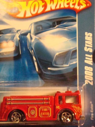 Hot Wheels Fire Eater Fire Truck 5 spoke collector scale 1/64 #48 2008 - 1
