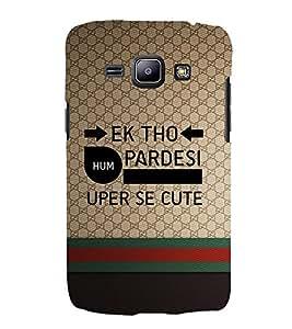EPICCASE Ek tho Pardesi Mobile Back Case Cover For Samsung Galaxy J1 (Designer Case)