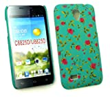 Emartbuy® LCD Screen Protector And Rose Garden Clip On Protection Case/Cover/Skin For Huawei Ascend G330