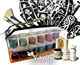Glitter Shimmer Temporary Tattoo PRO KIT 100 Tattoos - Water Proof Do It Yourself!