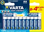 Varta - Pile Alcaline - AA x 8 + 4 gr...