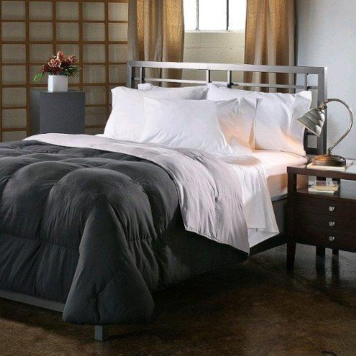 king size down alternative comforter duvet cover insert 100 ounces of fill blackgrey