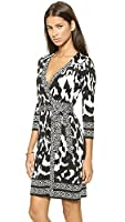 Diane von Furstenberg Tallulah Dress in Flower Ikat Black/Snake Weave