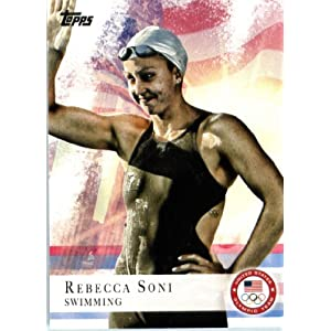 2012 Topps US Olympic Team #26 Rebecca Soni Swimming ENCASED U.S. Olympic Trading Card!
