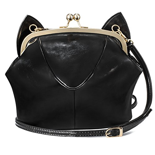Xmlizhigu Women girls' Cute Fashion Cat Ear Outdoor Handbag Crossbody Shoulder Bag Black (Hello Kitty Quilted Purse compare prices)
