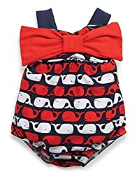 Mud Pie Baby Girls\' Whale Swimsuit, Blue, 9 12 Months