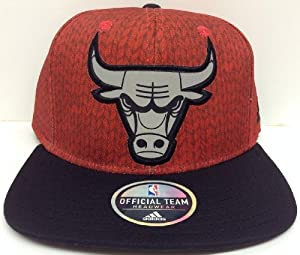Impact Camo Chicago Bulls Adidas Snapback Red & Black by NBA