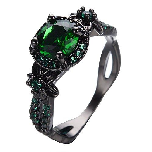 Dark Green Emerald Ring